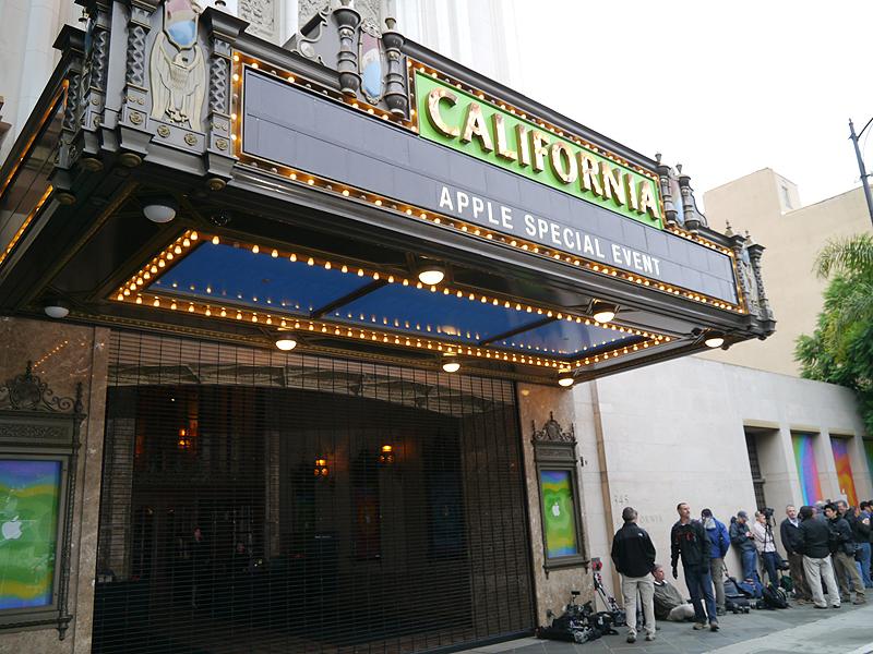 発表が行われた米カリフォルニア州サンノゼのカリフォルニアシアター