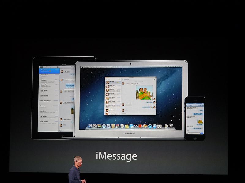 iMessageでは、3000億件のメッセージがやりとりされた。これは1秒間に2万8000通がやりとりされている計算になる