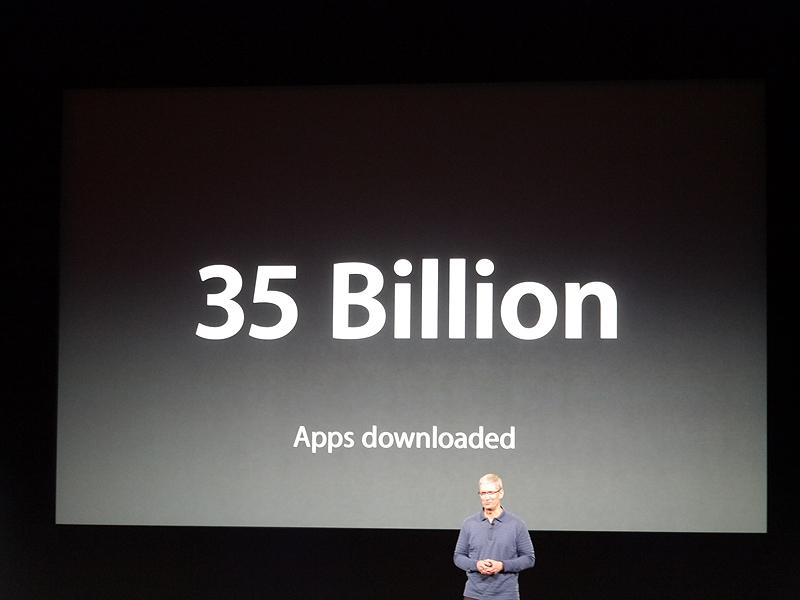 アプリケーションのダウンロード数は350億件に達したという