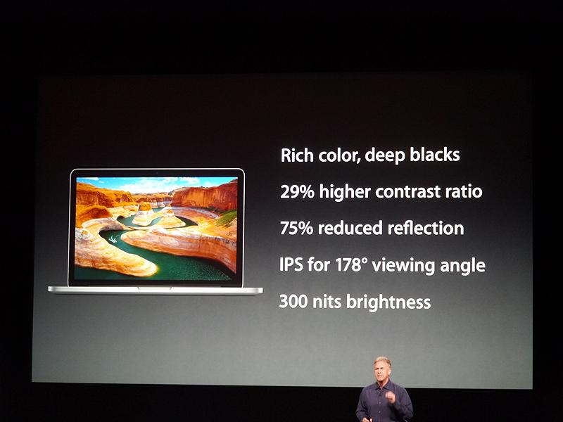 13型Retinaディスプレイを採用したMacBook Proの概要