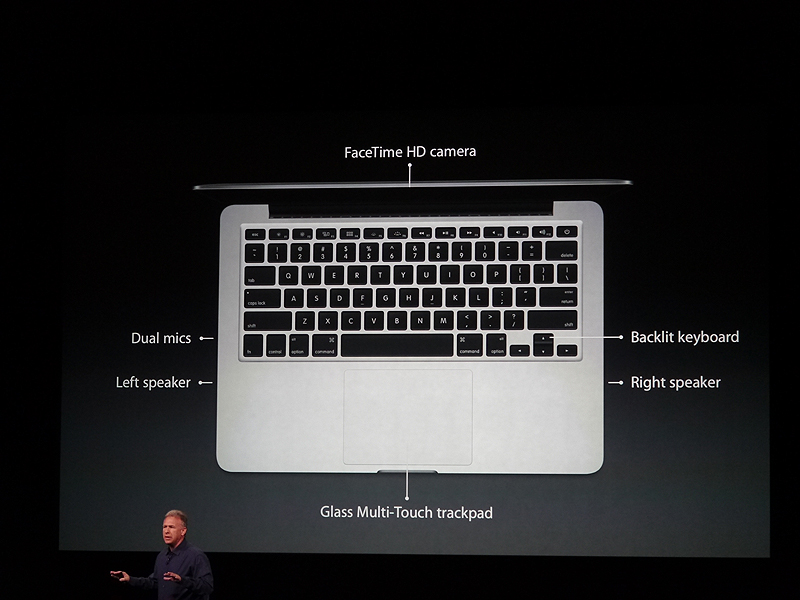 13型Retinaディスプレイ搭載MacBook Proの仕様