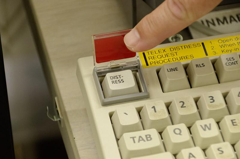 SOS時のボタン。このボタンを押すと先ほどの電話機に着信する
