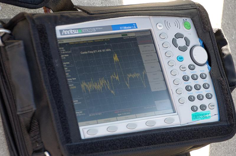 データ通信の電波がほぼ最大に