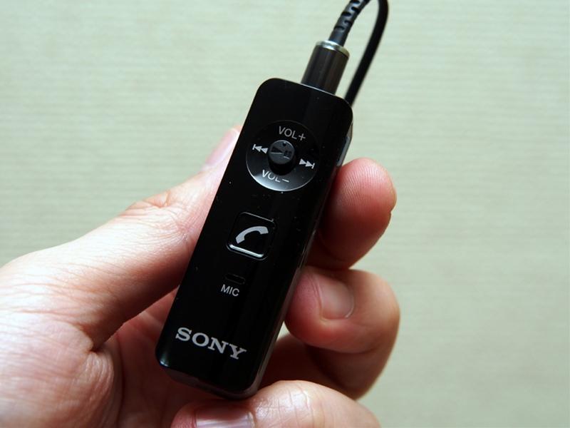 購入した「DRC-BTN40」。イヤホンが付属しないタイプで、手持ちのものをそのまま挿せるのがメリット。Xperia Zなど、NFC対応スマートフォンとの「かんたん接続」にも対応する