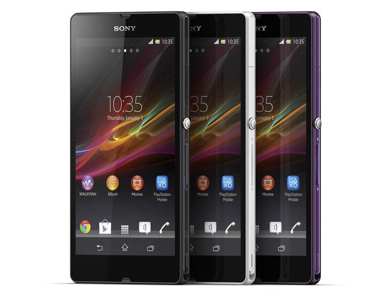 ソニーモバイルが1月に発表した「Xperia Z」