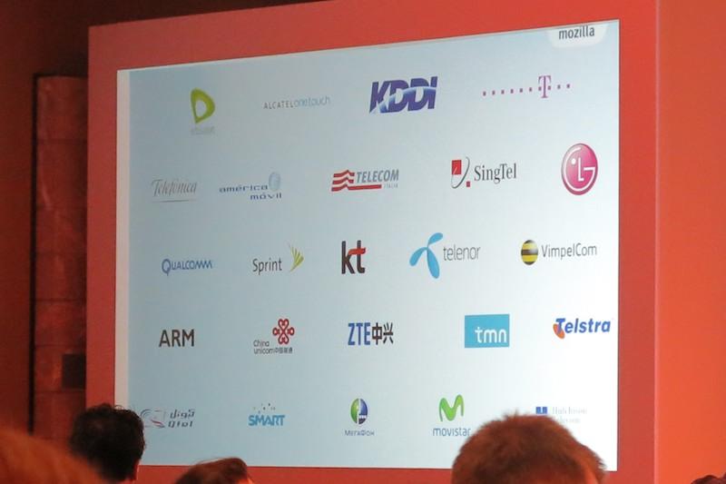 紹介されたFirefox OSのパートナー企業