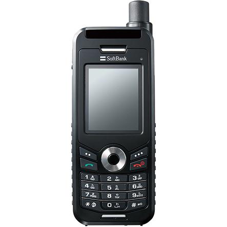 ソフトバンクの衛星電話サービス用端末「201TH」(スラヤ製)