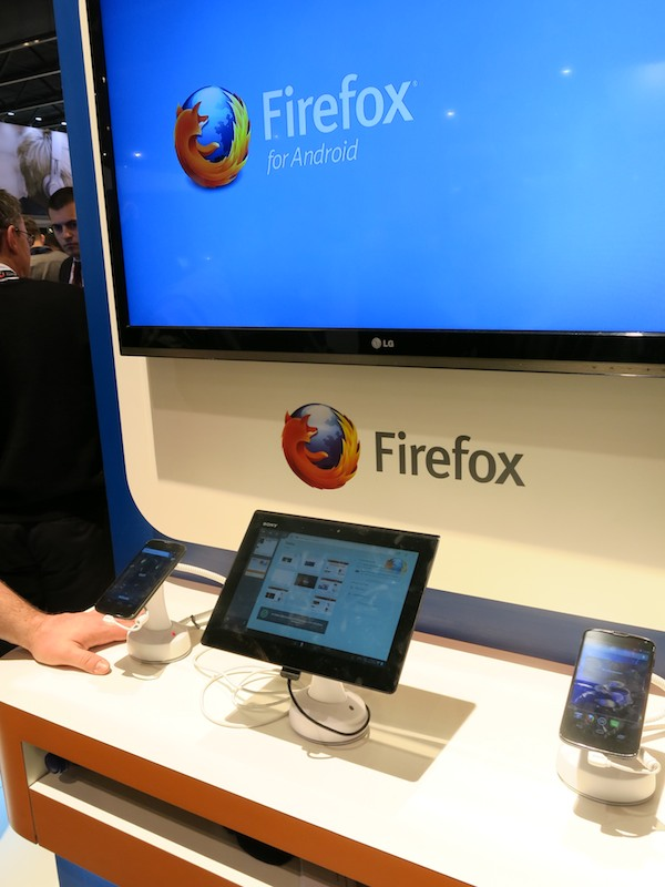 Android版Firefoxの展示