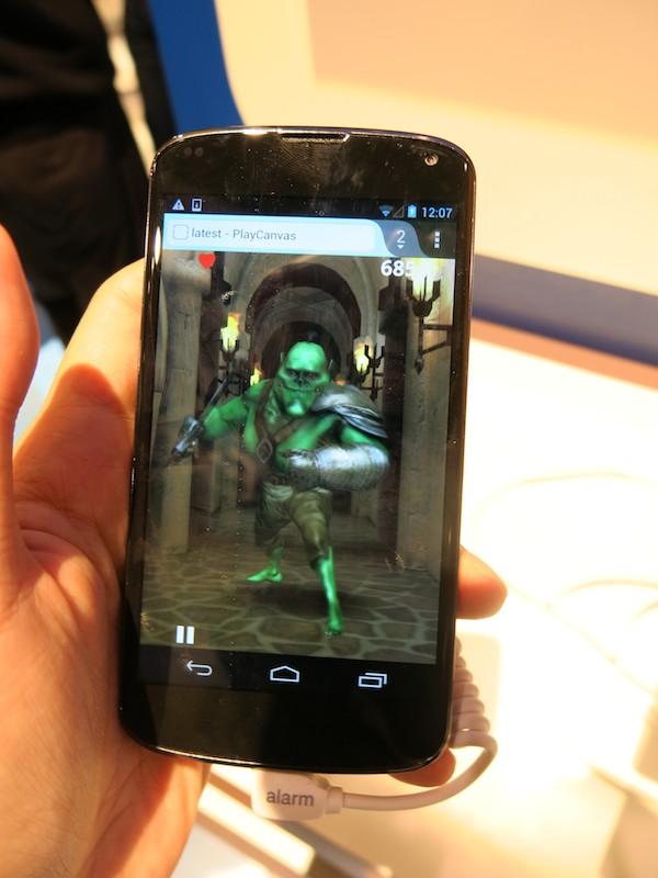 Android版Firefox上で動作する3Dゲーム