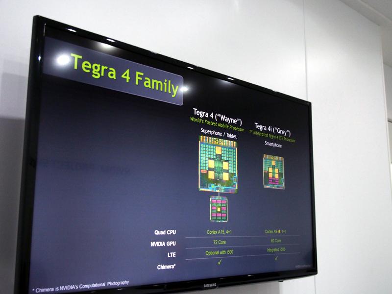 Tegra 4と、モデムを内蔵したTegra 4i