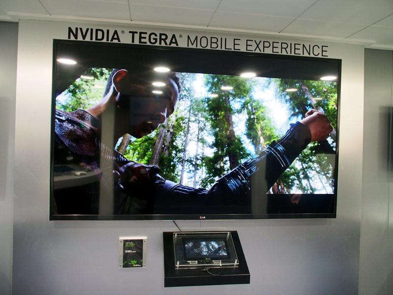 Tegra 4搭載のタブレットから4Kのディスプレイに映像が出力されていた