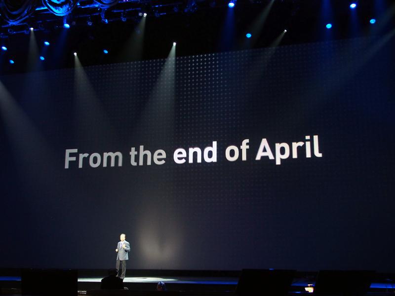 世界各国で、4月下旬から発売される