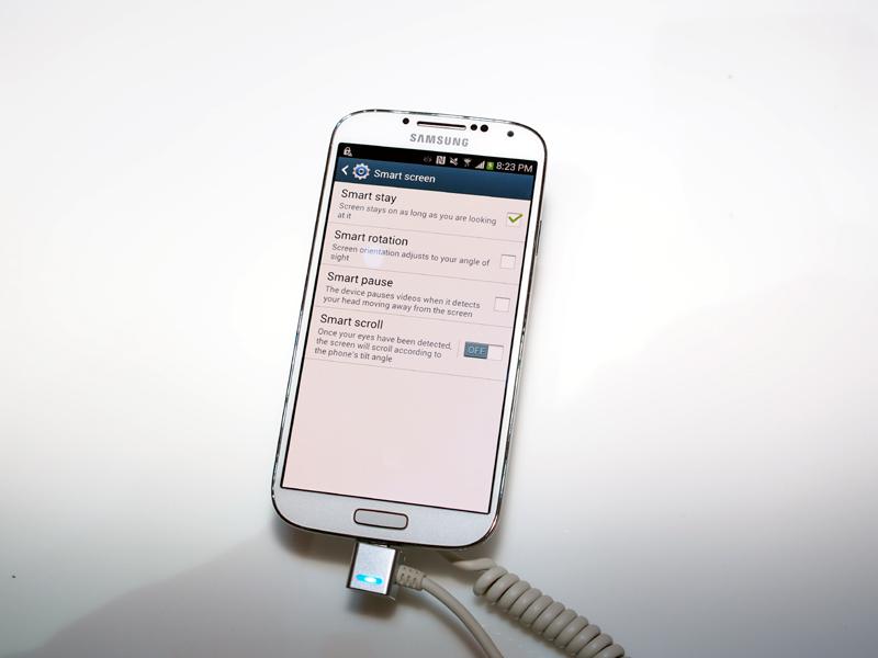 「Smart screen」で、「Smart pause」や「Smart scroll」を設定できる