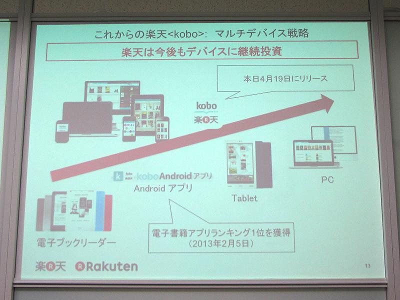 タブレット版koboの日本市場投入を検討中