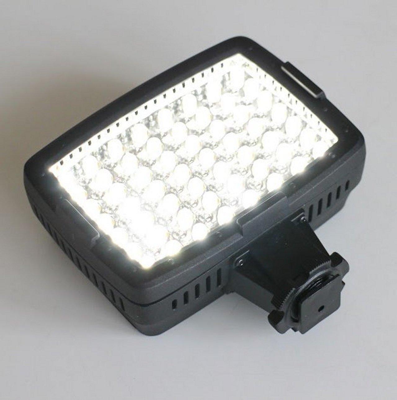 一気に光る56個の白色LEDは眩しすぎて裸眼では見てられないほどの明るさだ