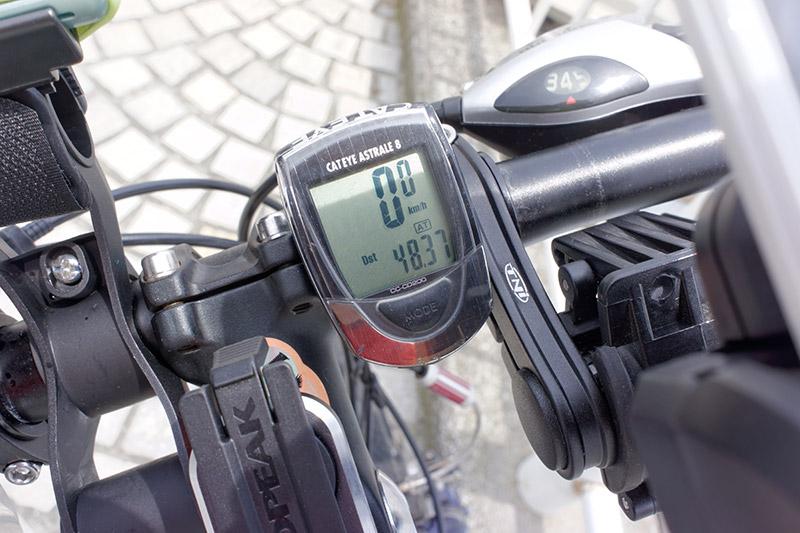 サイクルコンピュータが示していたのは48.37km