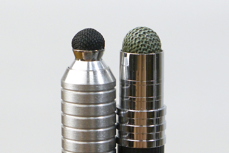 CLモデルのペン先(右)と比較