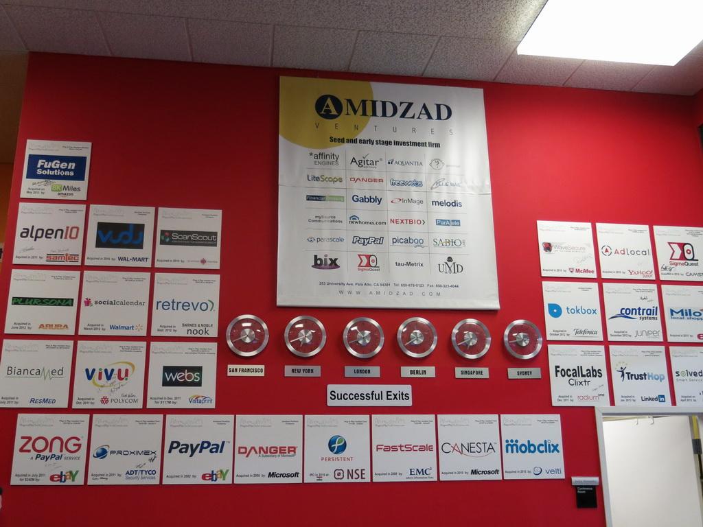 成功を収め、同センターをイグジット(卒業)していった企業。日本でもよく知られている「PayPal」の名前もある