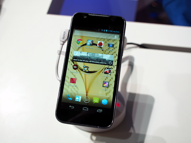 ZTEの開発した「Grand X2 In」。同社は、スマートフォン事業で提携関係を結んでいる