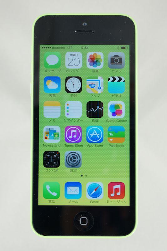iPhone 5c(グリーン)