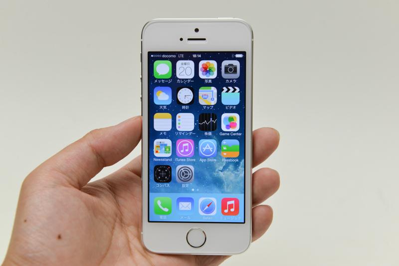 iPhone 5sのデザインは、ほぼiPhone 5と同じ