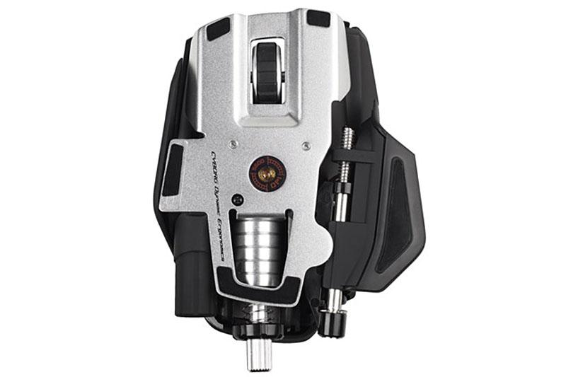 Mad Catzの「Cyborg R.A.T.9 Gaming Mouse」。手へのフィット感や横スクロールホイールの利便は魅力的だったが、電池の保ちがよくなかった。ビジネス用途では「あ~また電池切れ」という感じで、それがストレスになり使うのをやめた