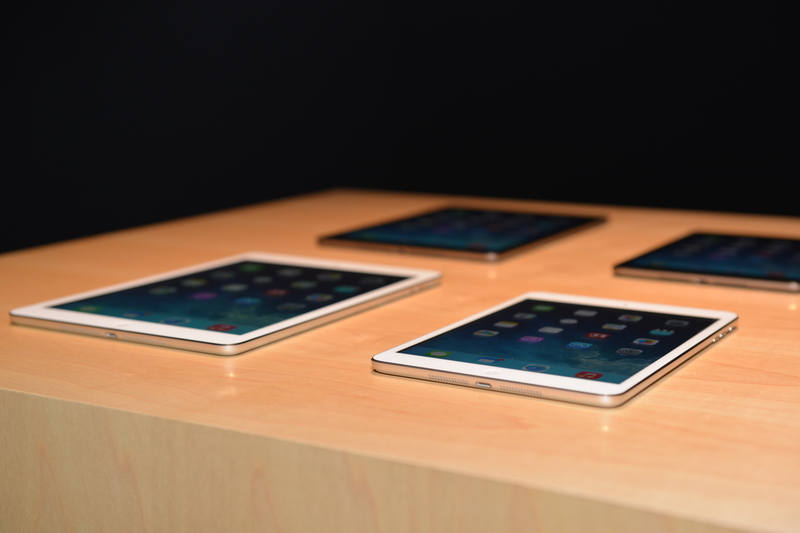 「iPad Air」と「iPad mini Retinaディスプレイモデル」