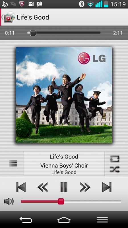 プリセットされているウィーン少年合唱団による「Life's Good」。とにかく、一度、聞いてしまうと、不思議と耳に残る。ハイレゾ音源が保存されている