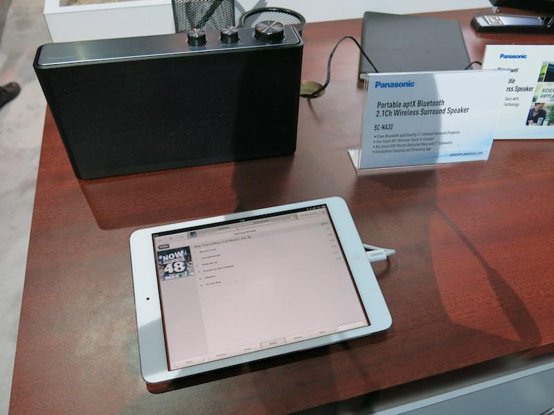 Bluetoothスピーカー最上位機種、2.1ch仕様のSC-NA30。こちらも日本でも発売中