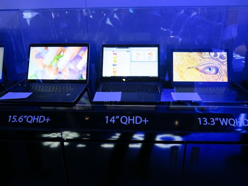 IGZO採用の各社のノートパソコン
