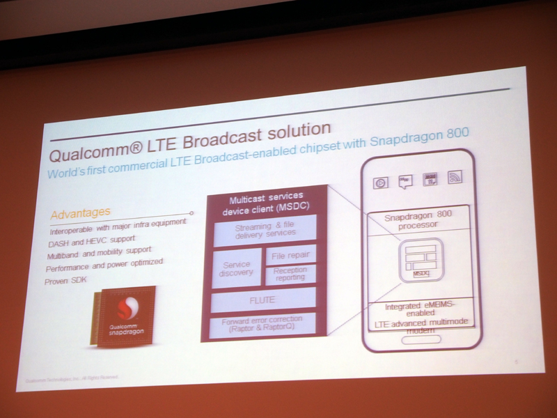 LTEブロードキャストに対する取り組みも紹介された