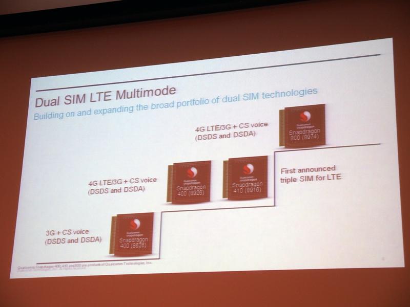 Snapdragon 400や410は、3枚のSIMカードを同時に利用できるトリプルSIMに対応