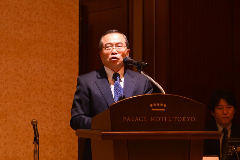 イー・アクセス 取締役名誉会長 千本倖生氏(2013年9月18日の発表会にて)