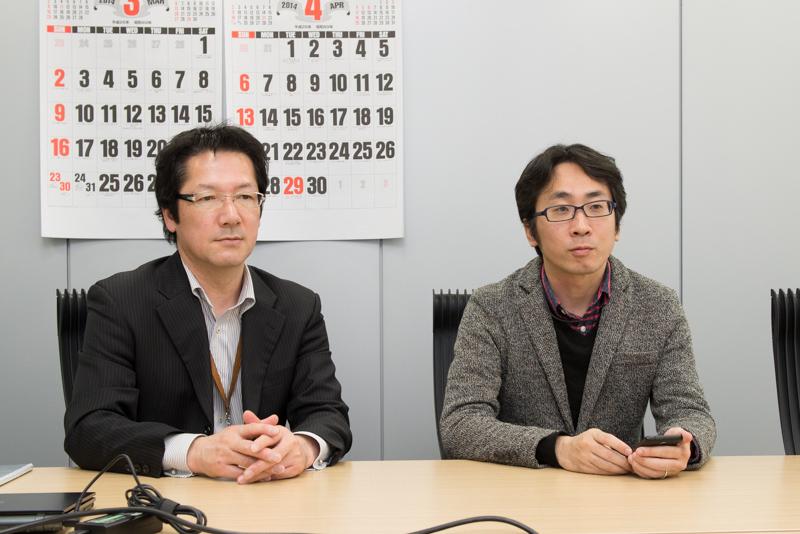 モルフォ 代表取締役社長の平賀督基氏(右)、取締役 営業部 部長の高尾慶二氏(左)