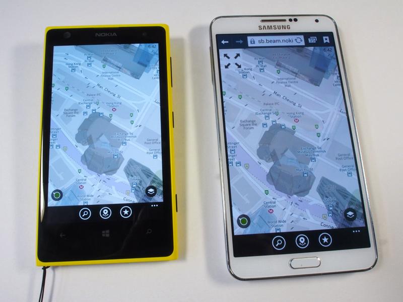 Lumiaの画面表示を共有できる