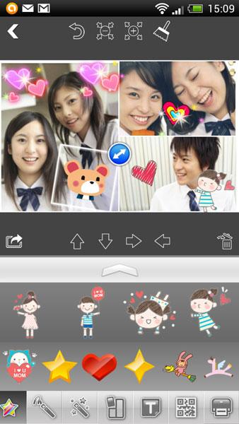 専用アプリ「Pringo」で写真をデコレーションできる