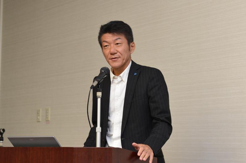 Mopria Allianceについて説明したコニカミノルタの増田浩幸氏