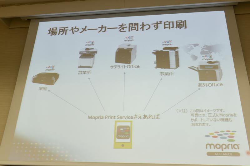Mopria対応機種なら場所、メーカーを問わず印刷できる