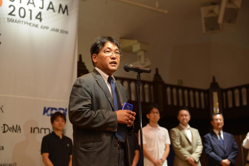 モバイルプラットフォーム・ソリューション部門の講評は本誌 編集長の湯野康隆。最優秀賞は選出されなかった