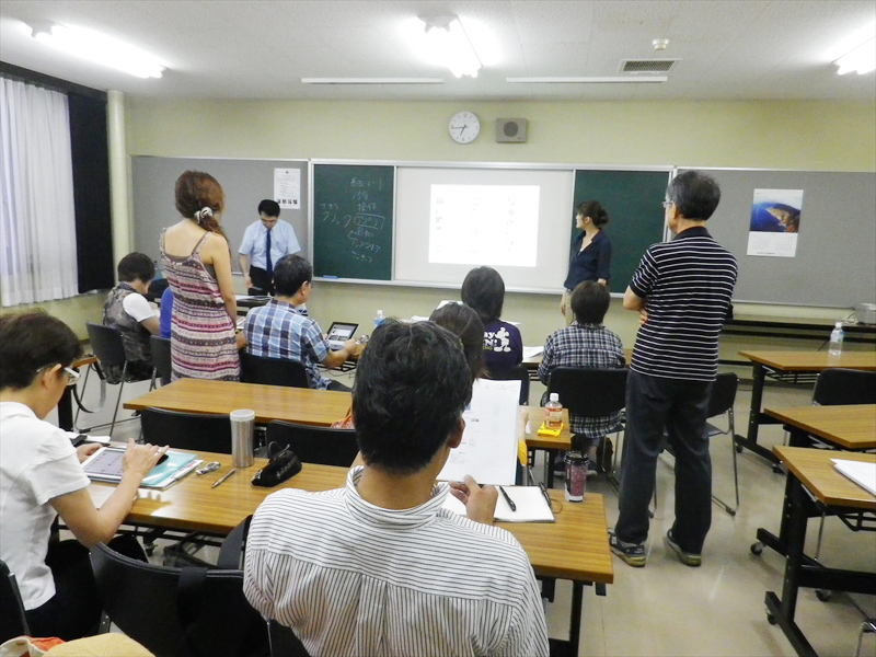 「視覚・聴覚障害のある方にiPadを教える人財育成講座」の様子