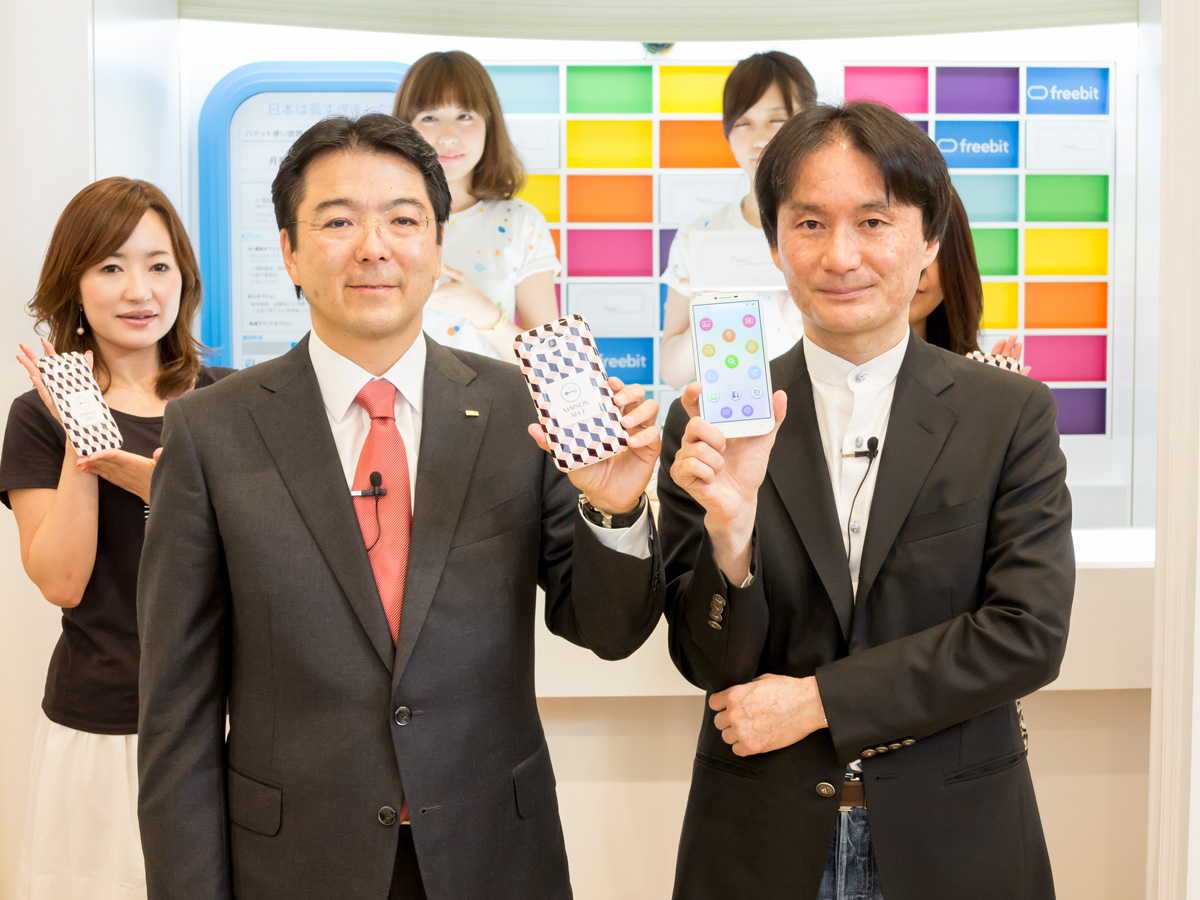 (左から)株式会社エイブル代表取締役社長の梁瀬泰孝氏、フリービット株式会社代表取締役社長CEOの石田宏樹氏