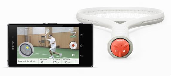 ラケット装着型のセンサー「Smart Tennis Sensor SEE-TN1」
