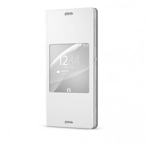 「Xperia Z3 SO-01G用 ウィンドウ付フリップ/ブックレットスタイル保護カバー」