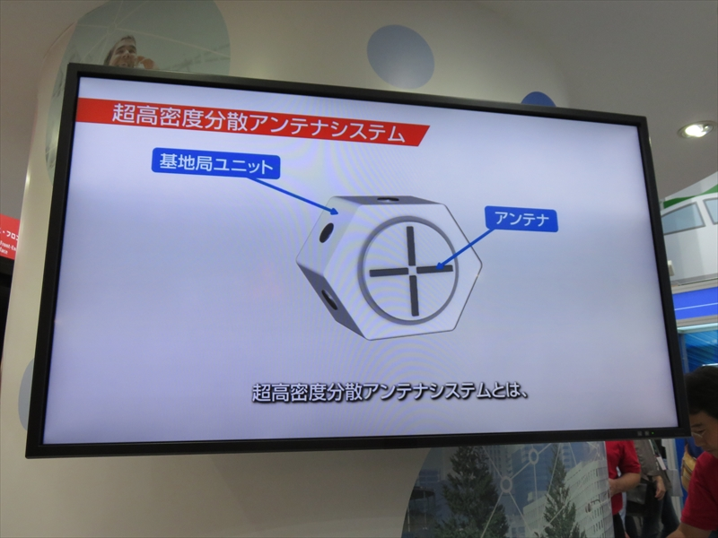 「分散アンテナユニット」の参考展示