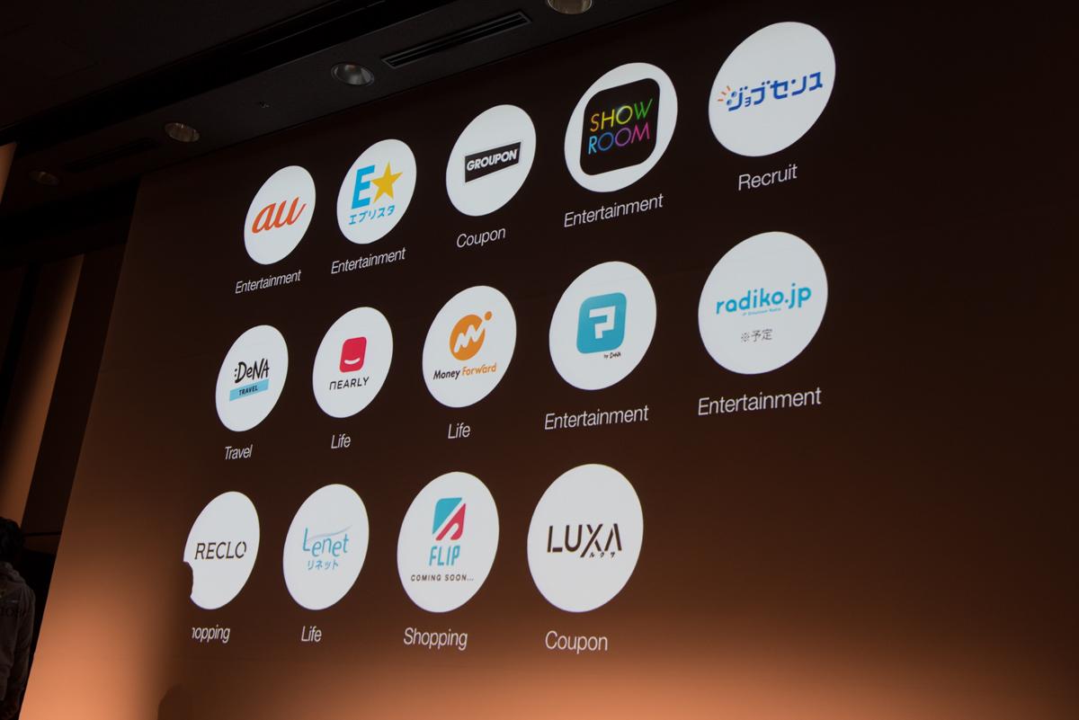 「Gunosy Platform」に参画する企業とサービス