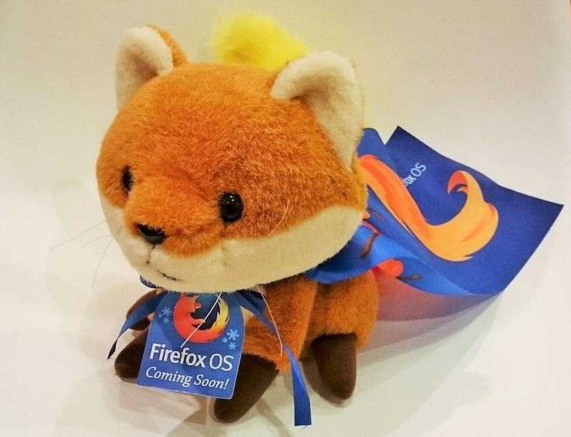Firefox OSの登場を記念した「フォクすけ」のぬいぐるみ