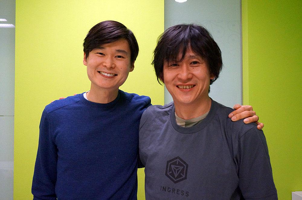 Niantic Labsのホワン氏(左)と川島優志氏(右)