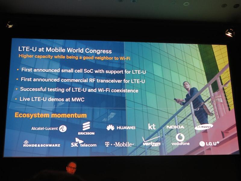 MWCではLTE-U関連でさまざまな取り組みが紹介されている