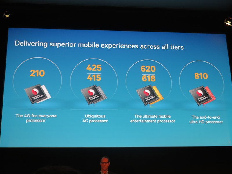 上から下まで幅広い層をサポートするSnapdragonのラインナップ