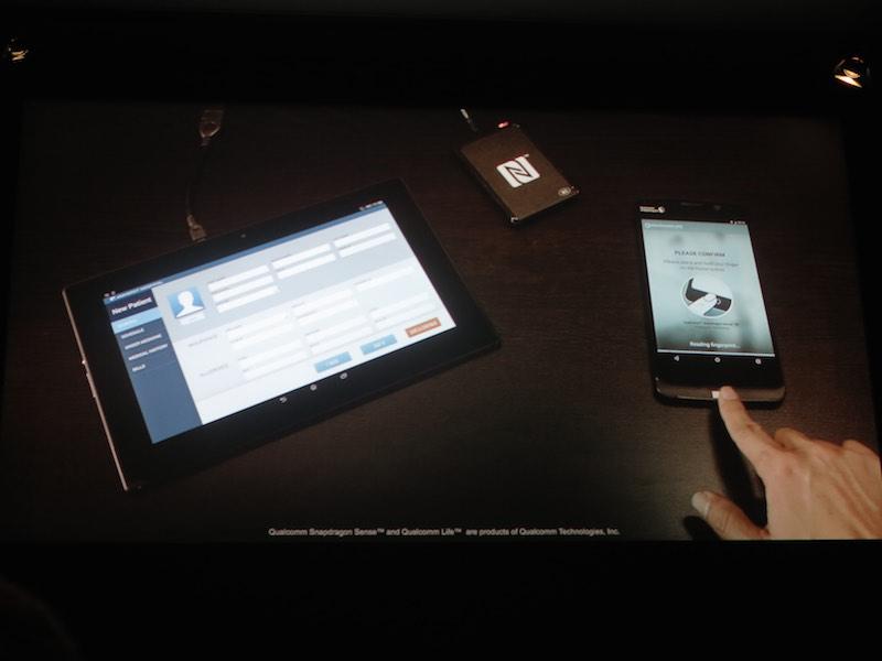 3次元指紋センサー技術の利用イメージ
